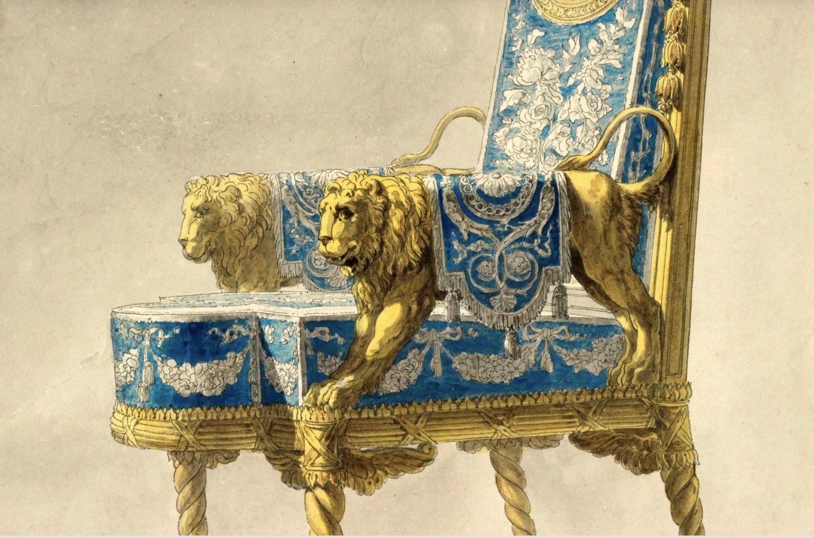 Projet de fauteuil, France, seconde moitié du XVIIIe siècle. ©  Sylvain Pretto