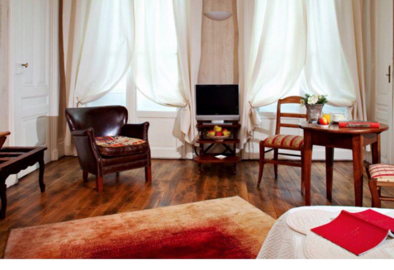 Chambre -salon Hôtel Globe & Cecil @françoyse Krier
