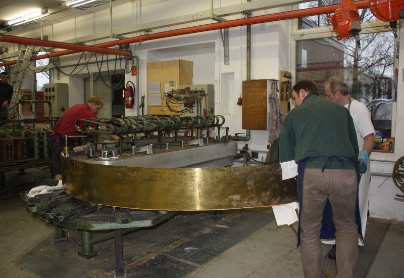 Fabrique Steinway Hambourg - la ceinture