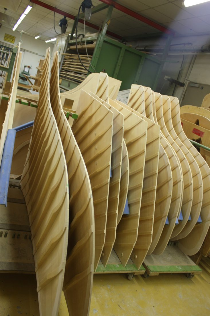 Fabrique Steinway Hambourg - chevalets