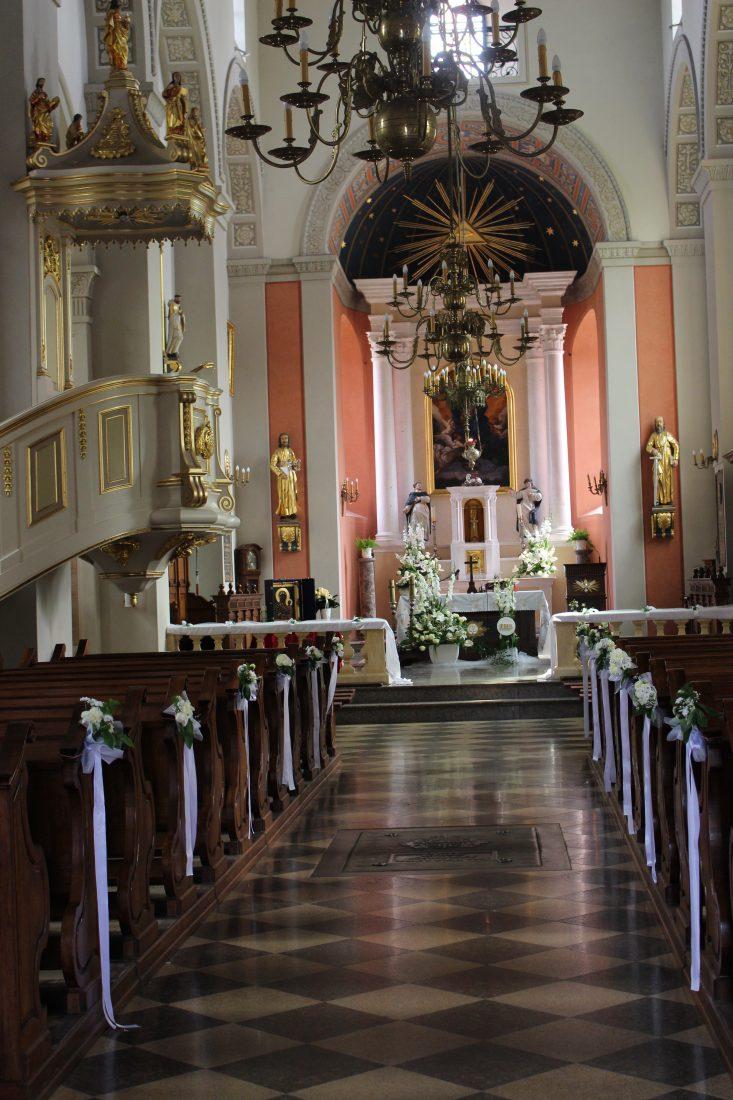 pologne église de Brochów intérieur