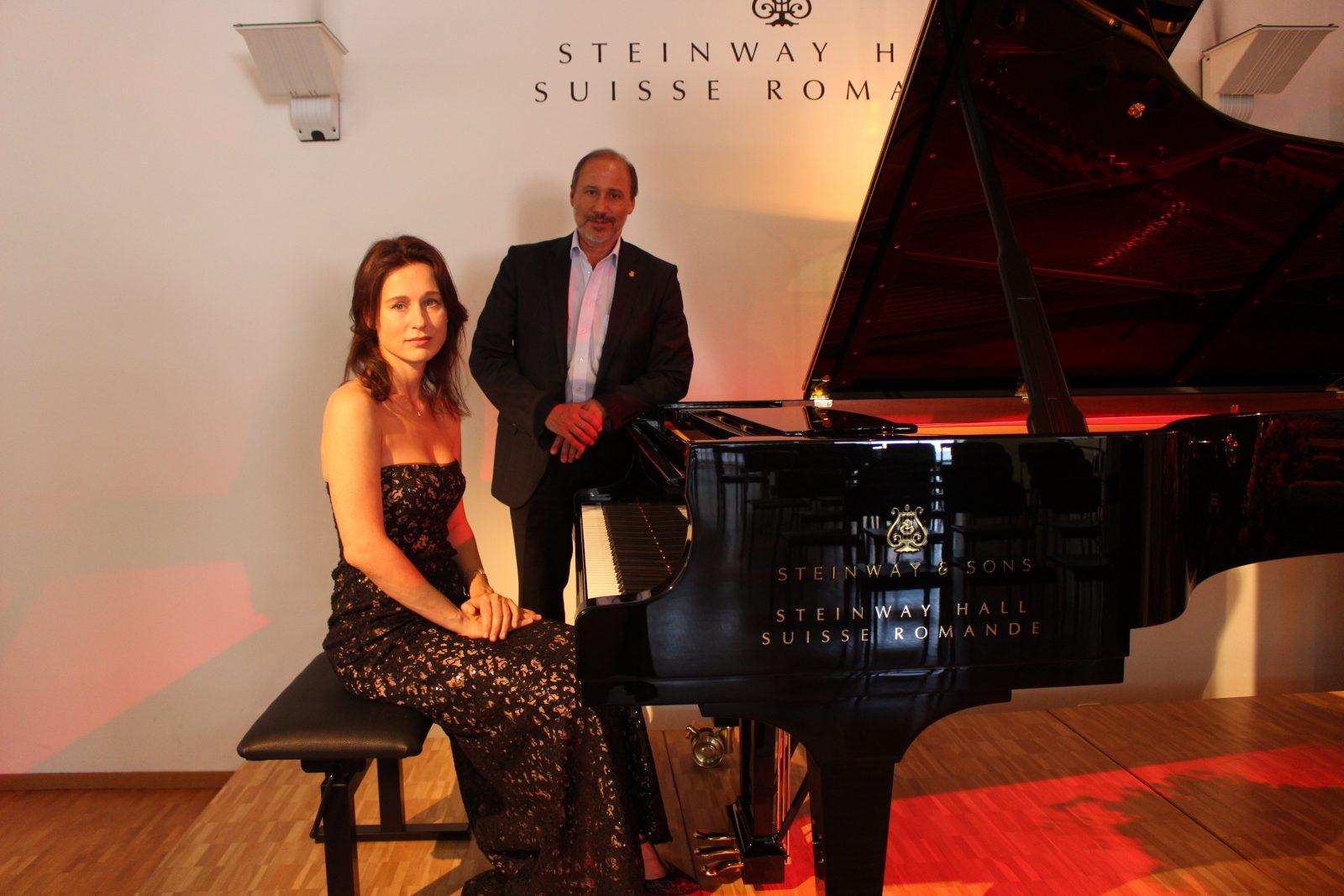 Irina Lankova et Armando Piguet, directeur de Hug Musique SA