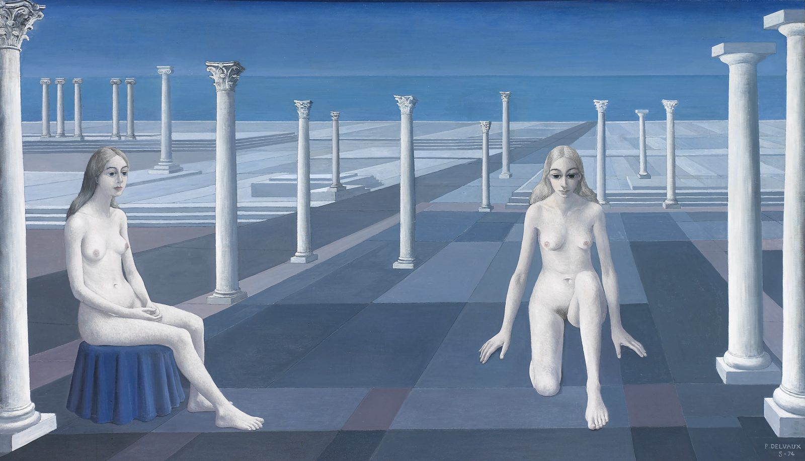 Evian Paul Delvaux, Le Dialogue, 1974 © Adagp, Paris 2017