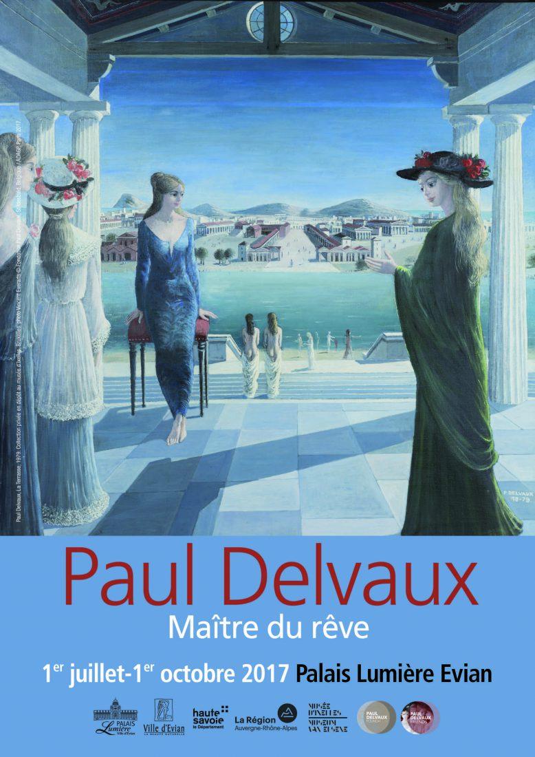 (Affiche Paul Delvaux, La Terrasse, 1979 © Adagp, Paris 2017)