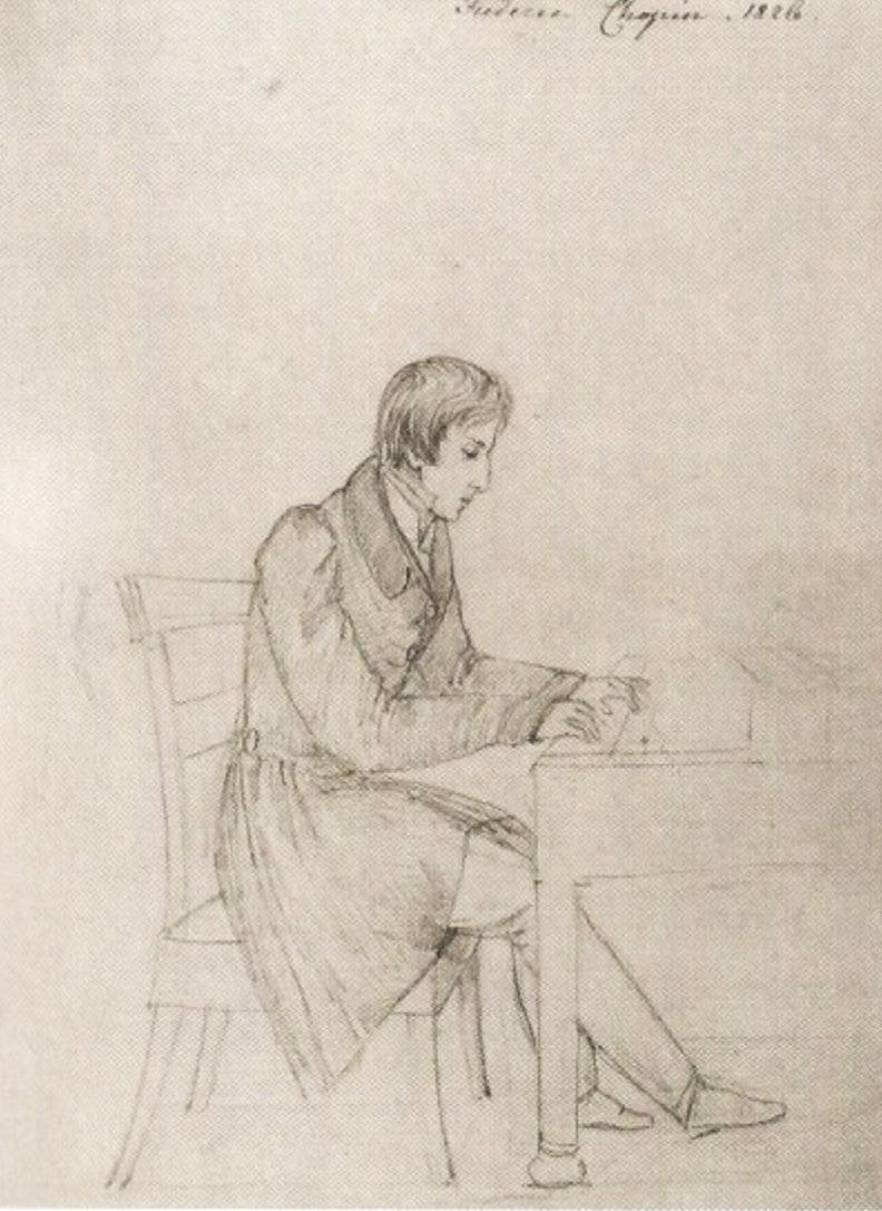 Chopin dessin d'eliza radziwill