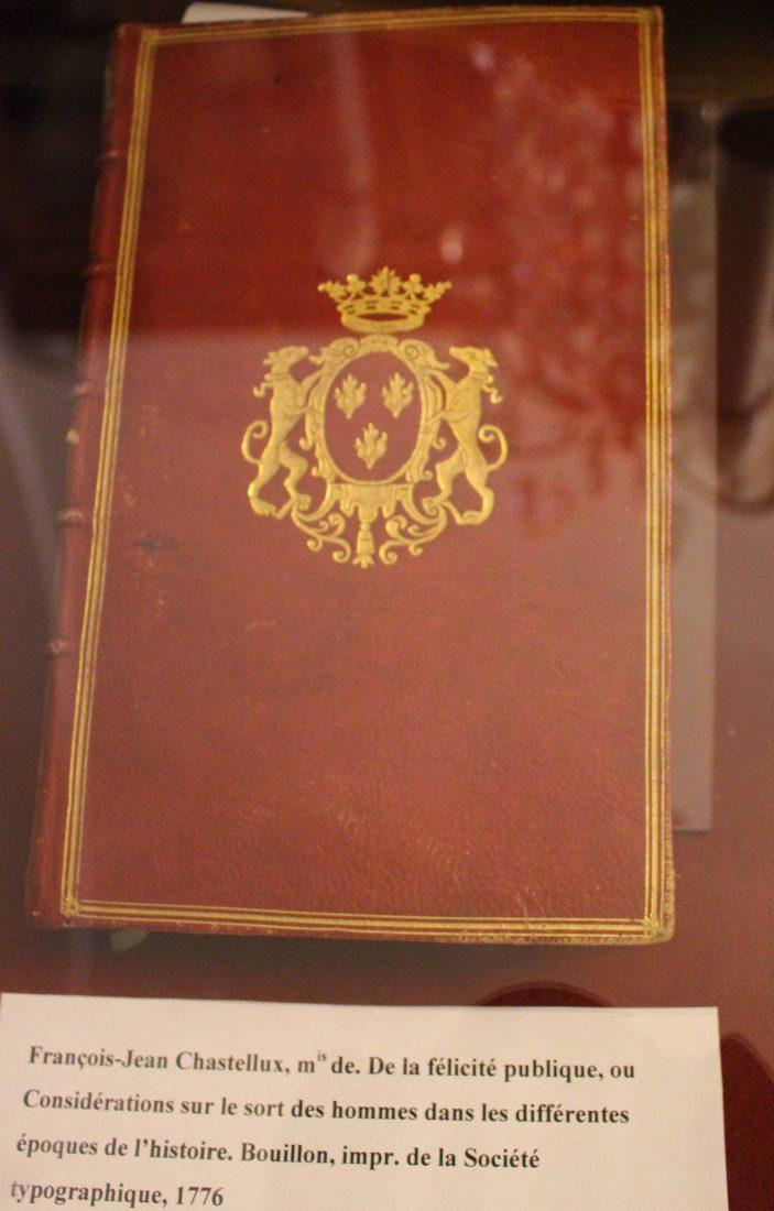 Saint-petersbourg livre relié dans la Bibliothèque de Voltaire