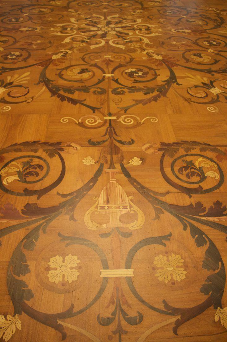 Saint Petersbourg Ermitage Marquetterie plancher