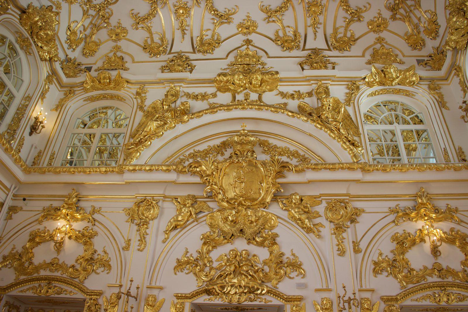 Saint Petersbourg musée Ermitage Dorures