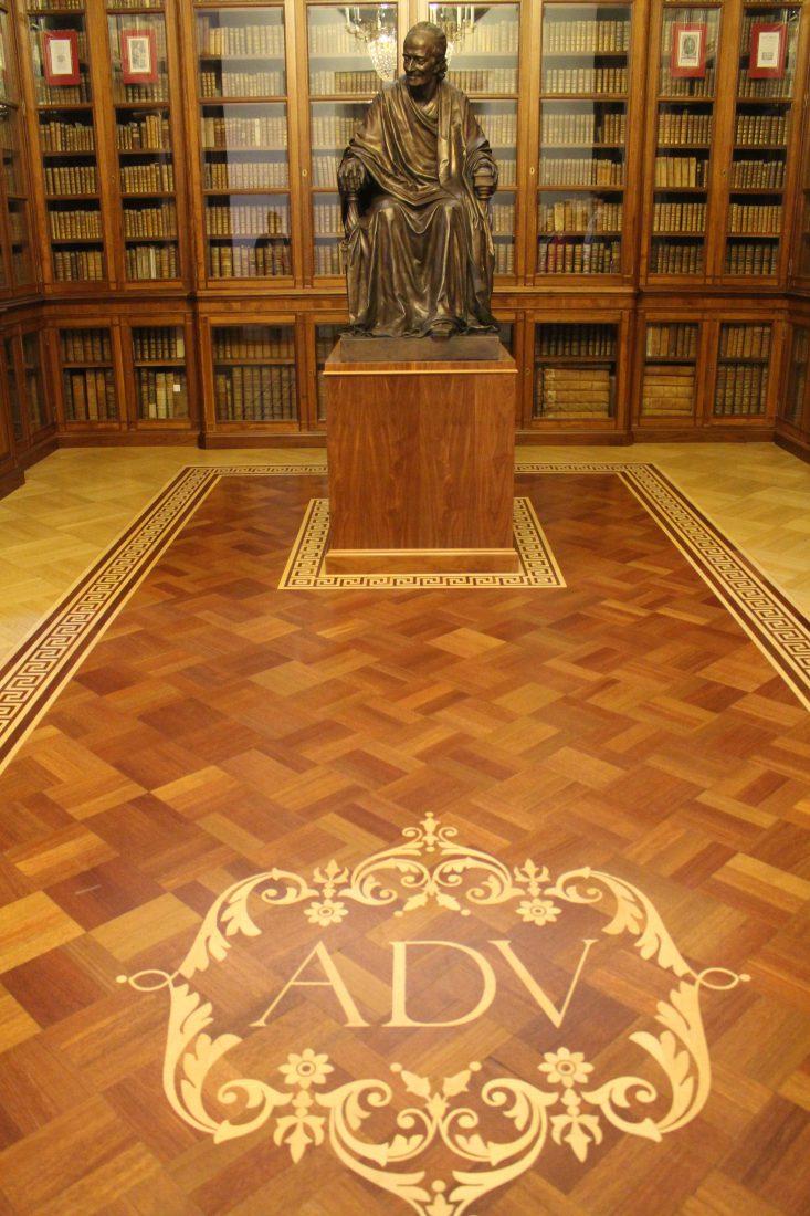 Saint-petersbourg Bibliothèque voltaire ADV statue de voltaire