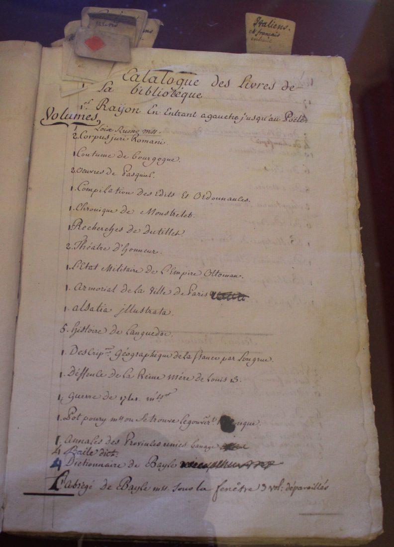 Saint-petersbourg Catalogue des livres de la Bibliothèque de Voltaire