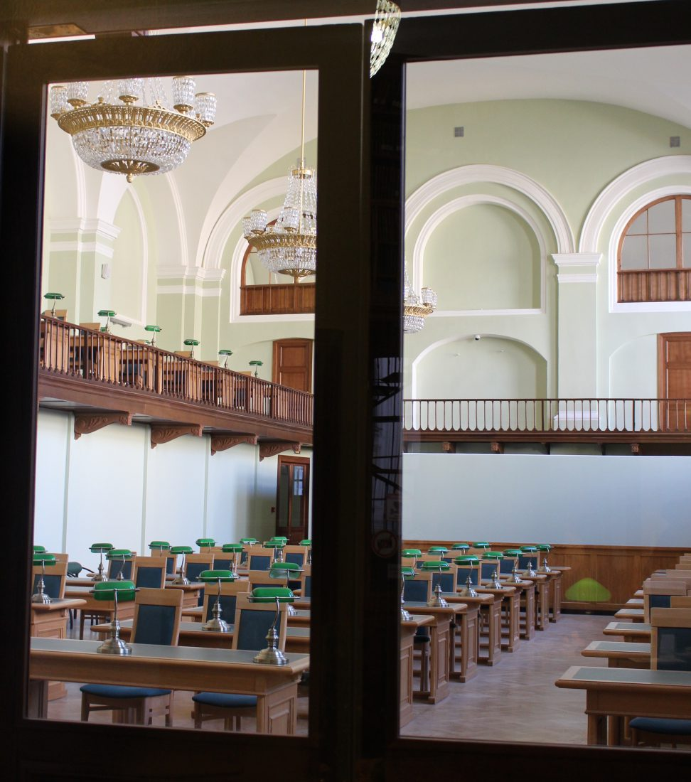 Saint Petersbourg Bibliothèque voltaire ancienne salle de lecture