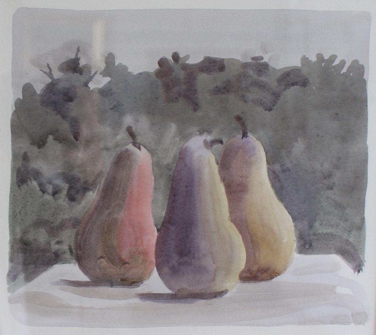 Italo De Grandi : Les trois Grâces - aquarelle sur papier