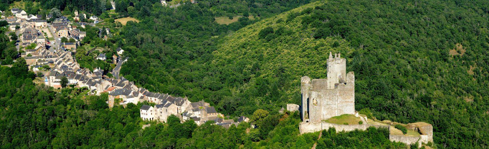 Najac, Aveyron, village-rue
