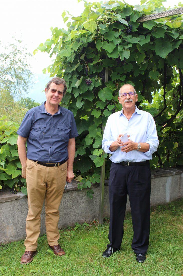 François et Pierre De Grandi, concepteurs de l'espace d'exposition (Photo FK)