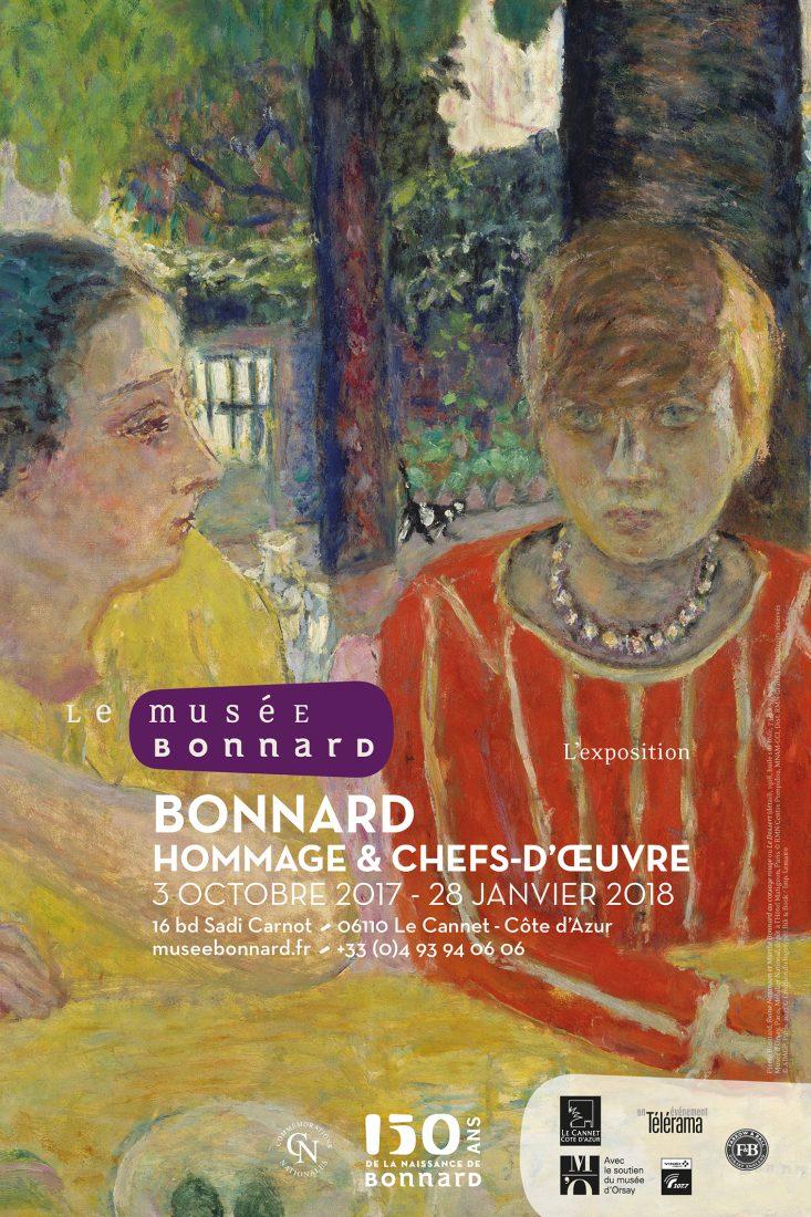Bonnard Affiche exposition Affiche Hommage_et_chefs-d-œuvre-Marthe
