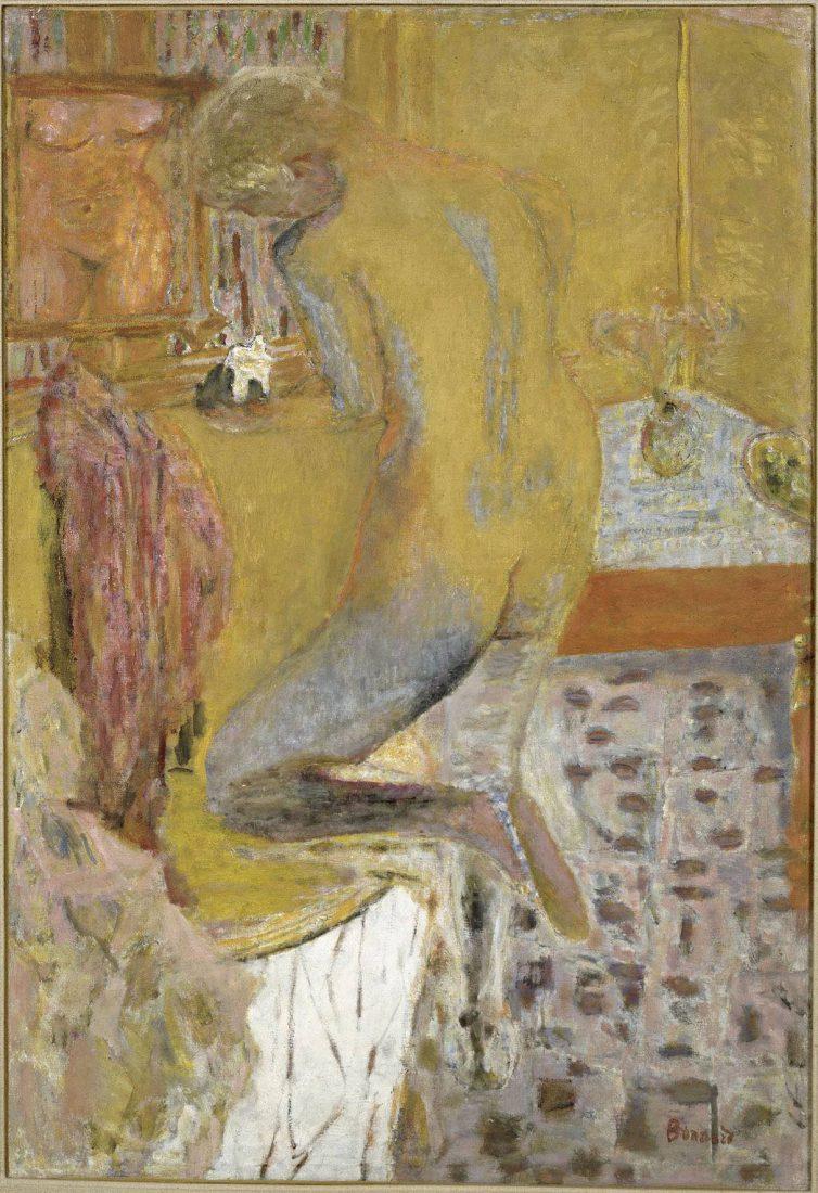 Bonnard Pierre (1867-1947). Paris, Centre Pompidou Nu de profil