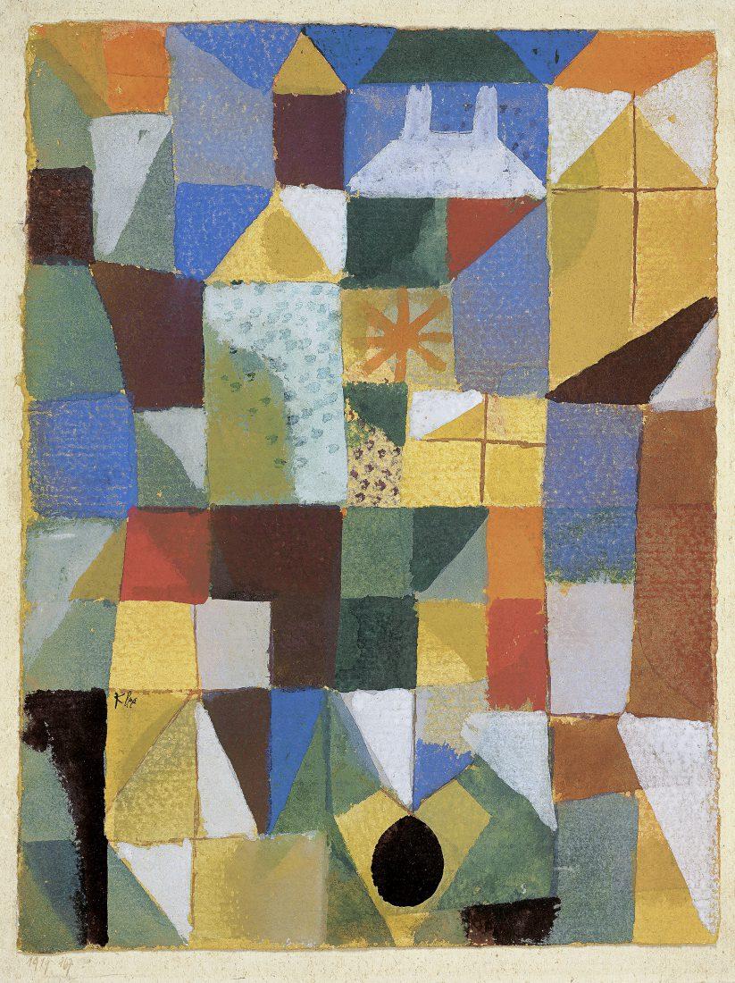 Riehen Paul Klee Staedtische-Komposition-mit-gelben-Fenstern-