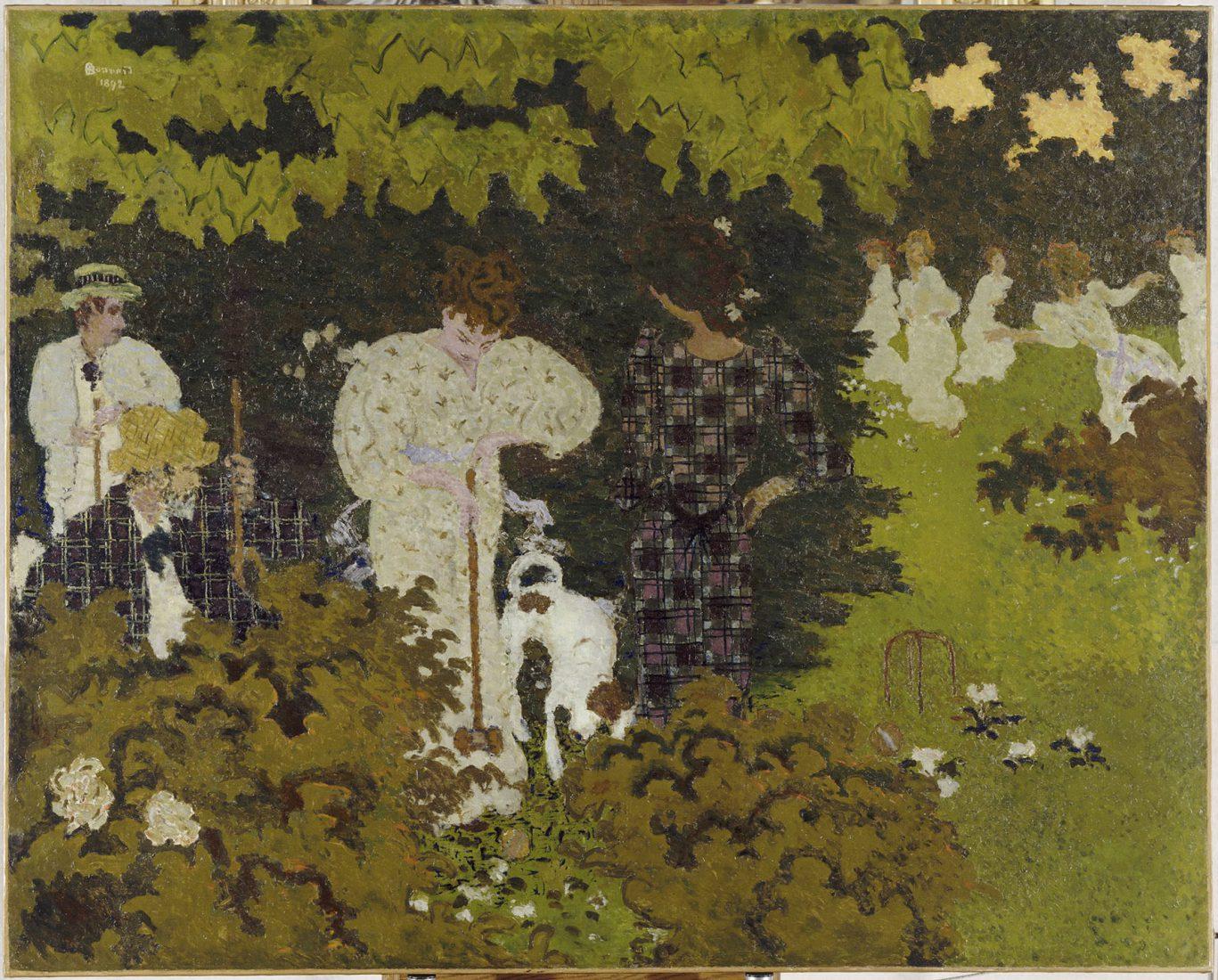 Bonnard Pierre (1867-1947). Paris, musée d'Orsay.La partie de croquet