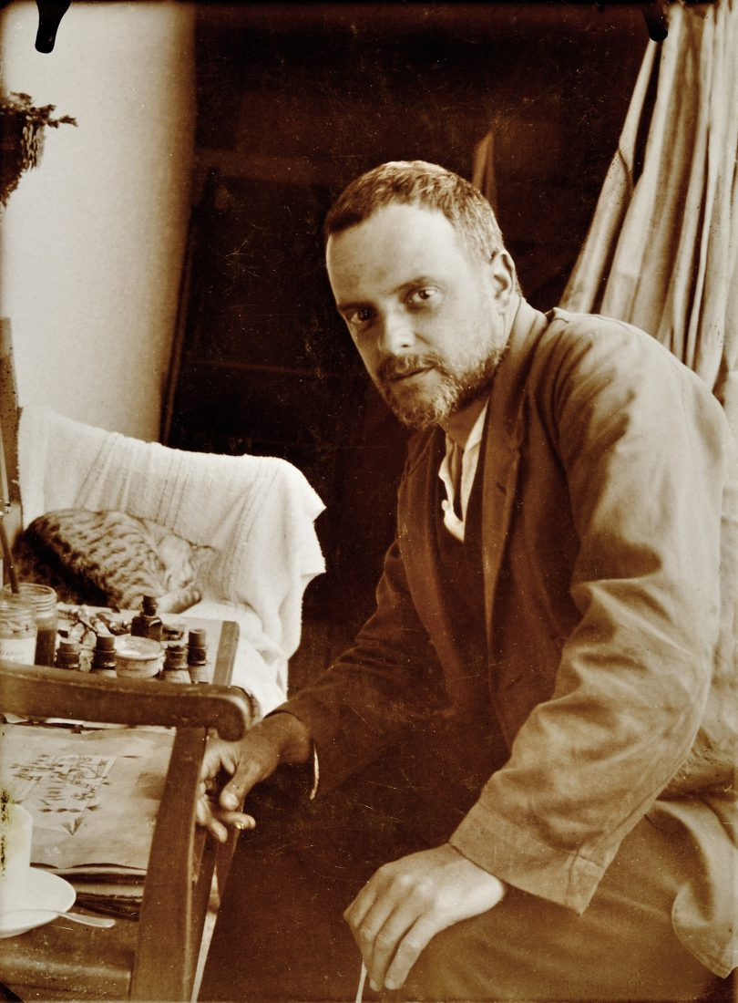 Paul Klee avec son chat Fripouille, Possenhofen, 1921