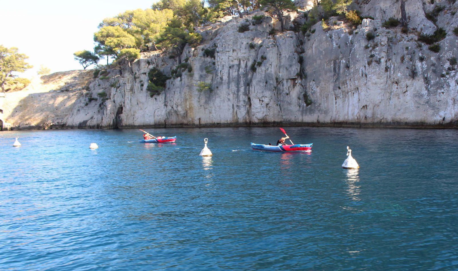 Cassis canoë kayak dans les calanques