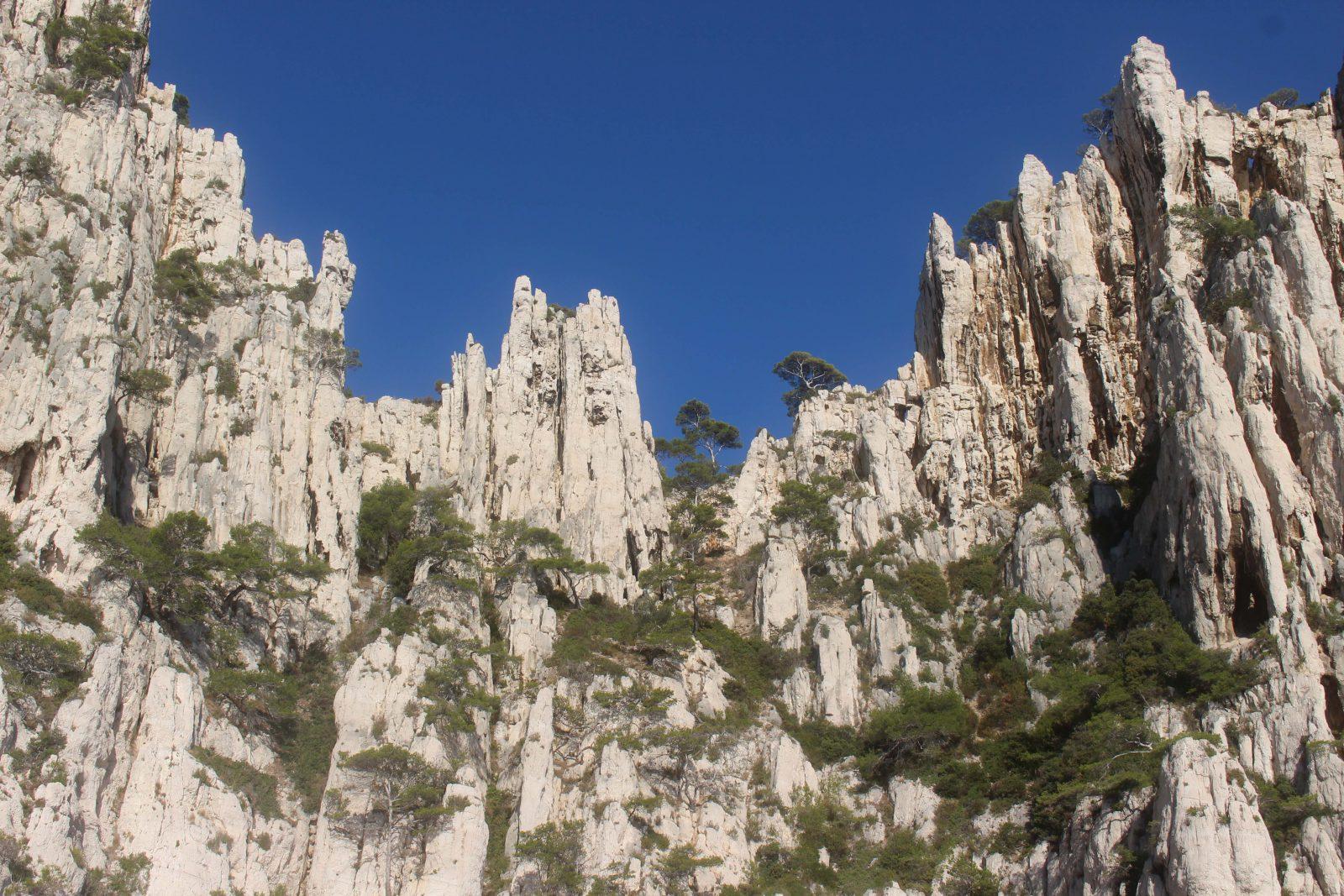 Les falaises en orgues des calanques de Cassis