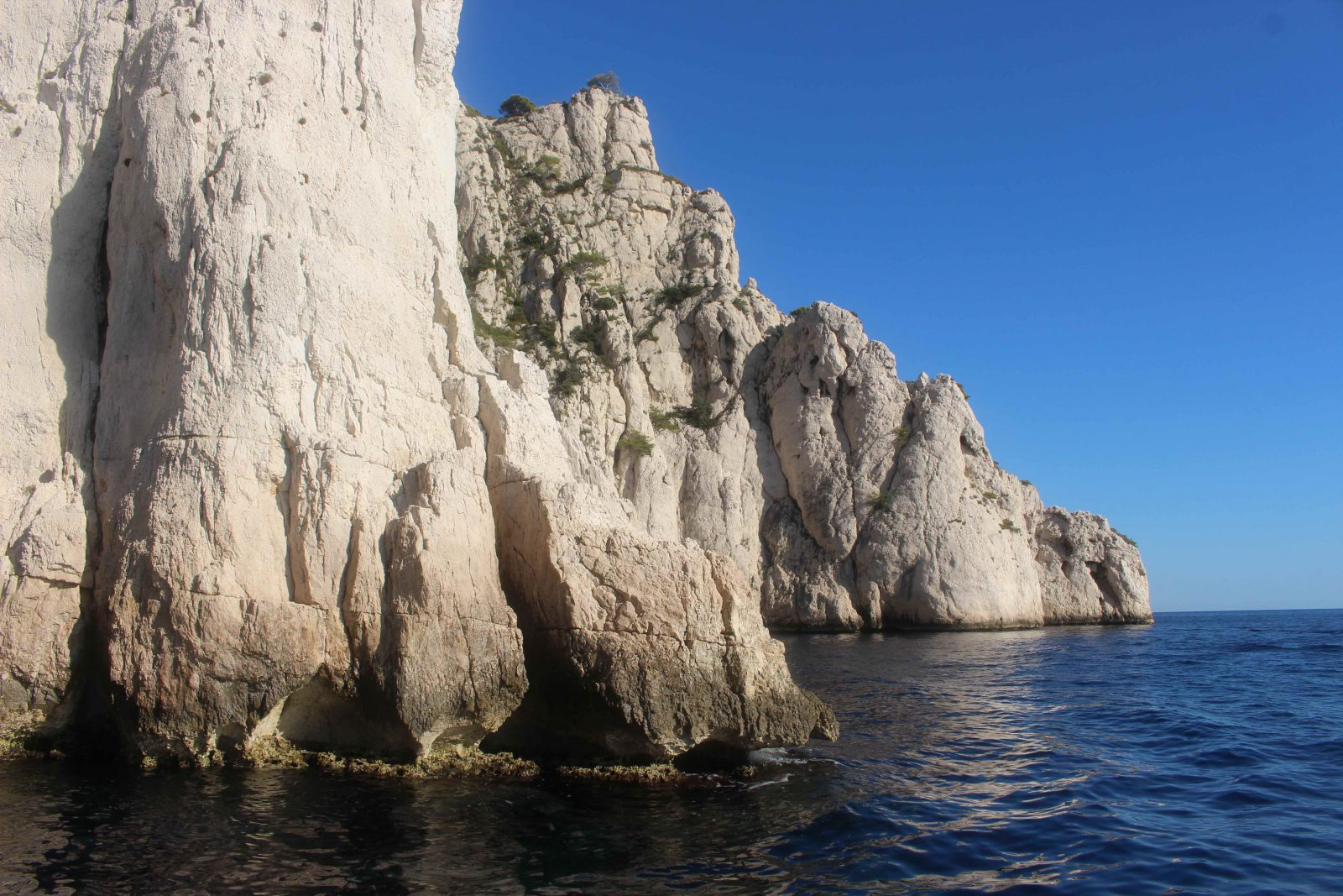 Les falaises des calanques de Cassis