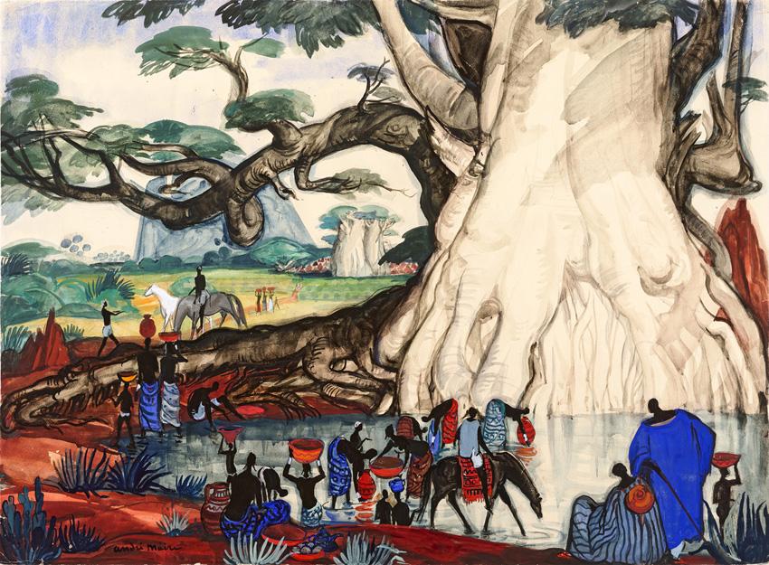 Marseille Exposition André Maire Marigot au Niger, Mali,