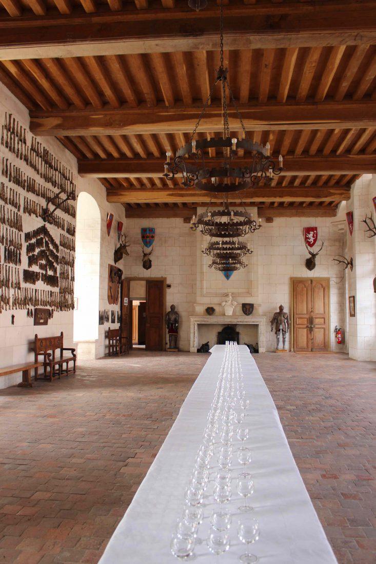 Château de Saint-Fargeau salle des trophées