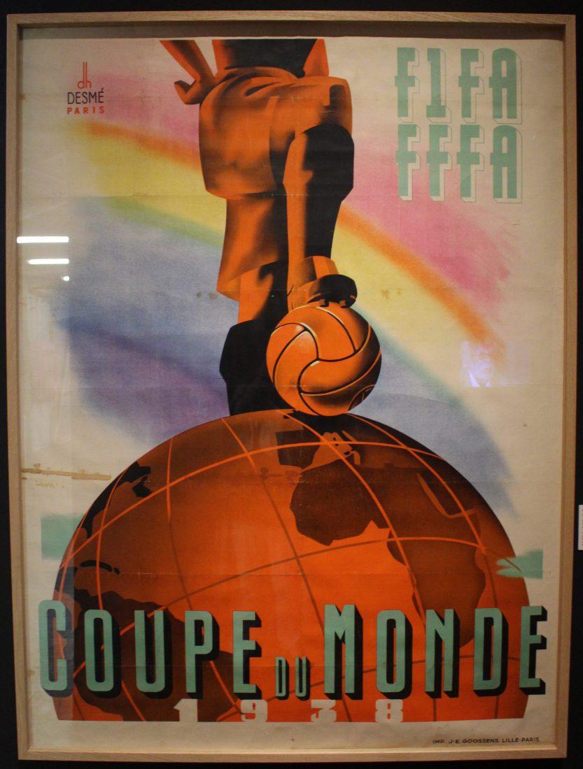 Marseille Mucem - Nous sommes Foot ! Affiche coupe brandie FIFA FFFA
