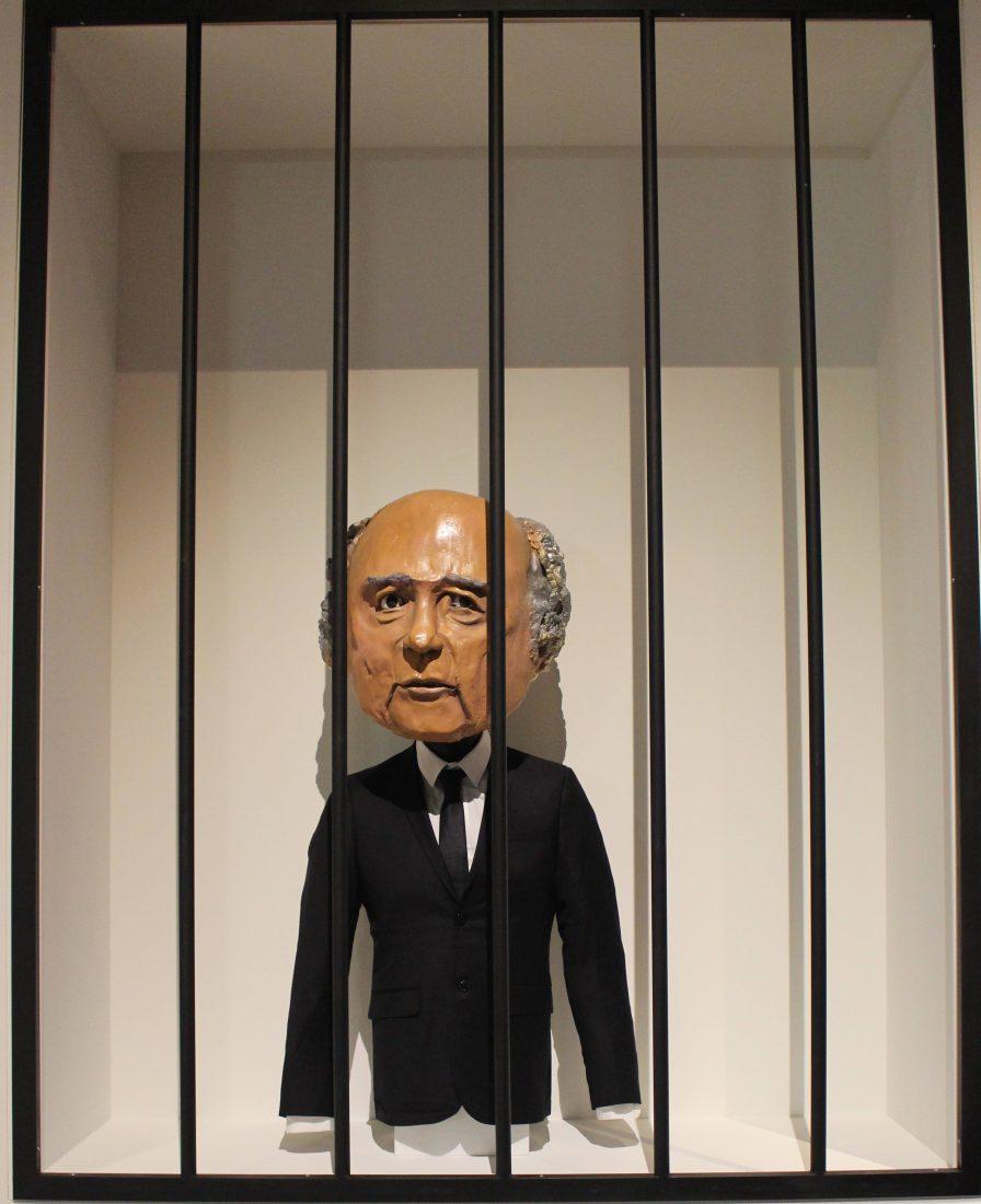 Marseille Mucem - Nous sommes Foot ! FIFA Sepp Blatter derrière les barreaux