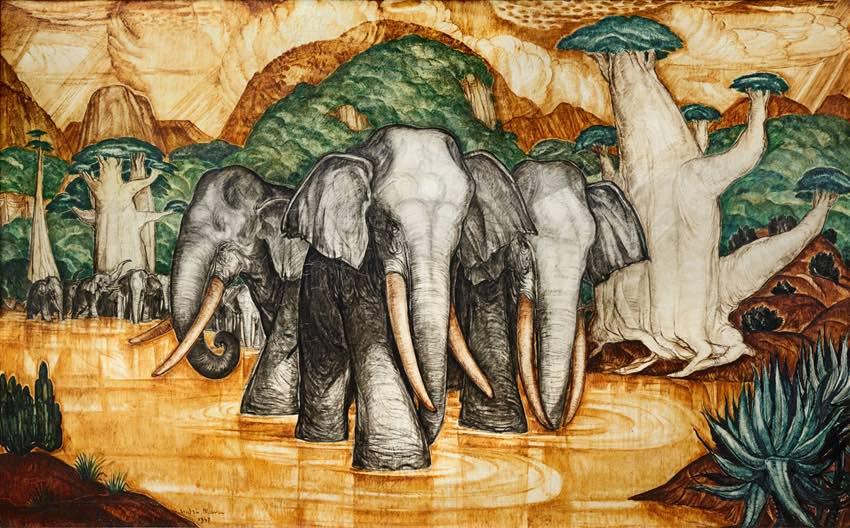 Musée Regards de Provence Marseille André Maire Les éléphants, 1947, Mali,