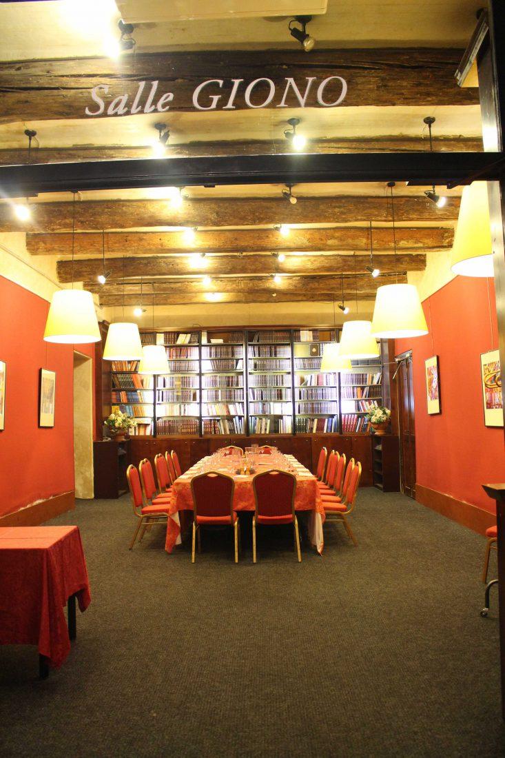 Les Arcenaulx librairie salle Giono