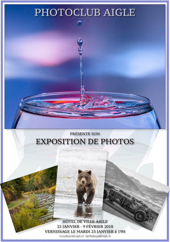exposition Photo-cliubn Aigle Affiche