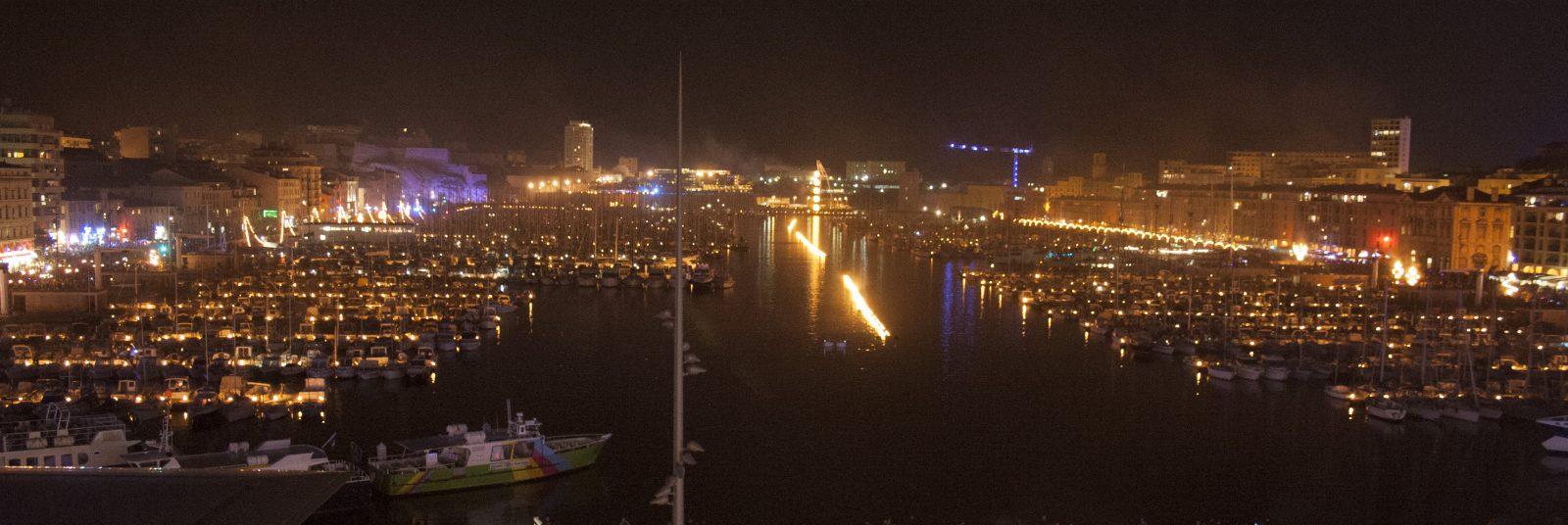 Marseille le Vieux Port de nuit