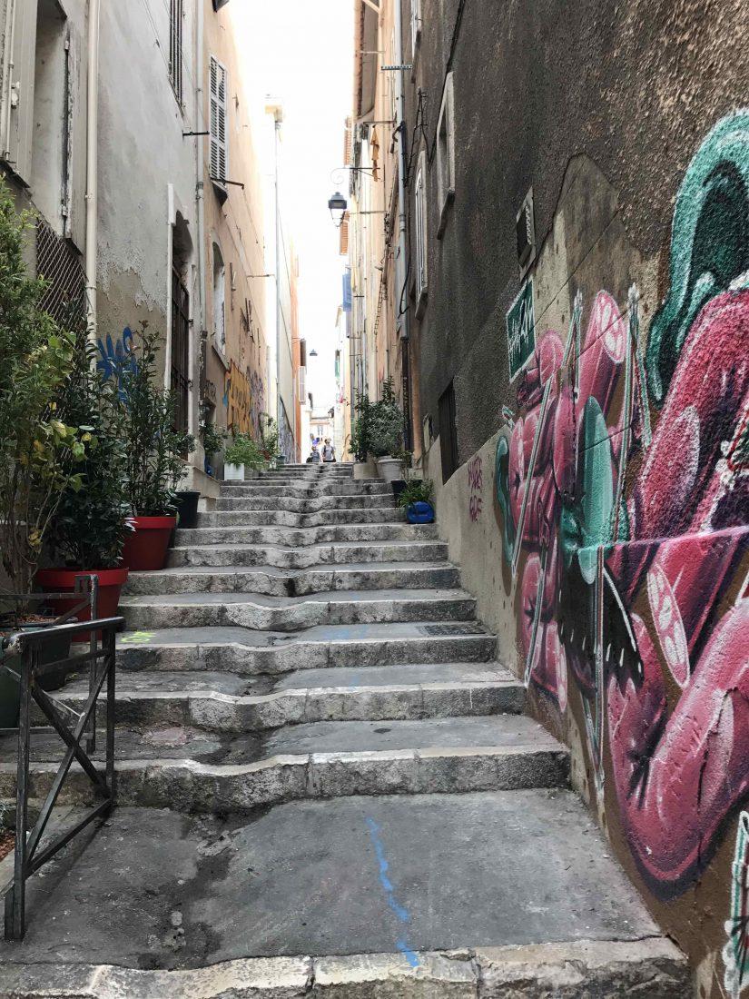 Marseille - escaliers au Panier