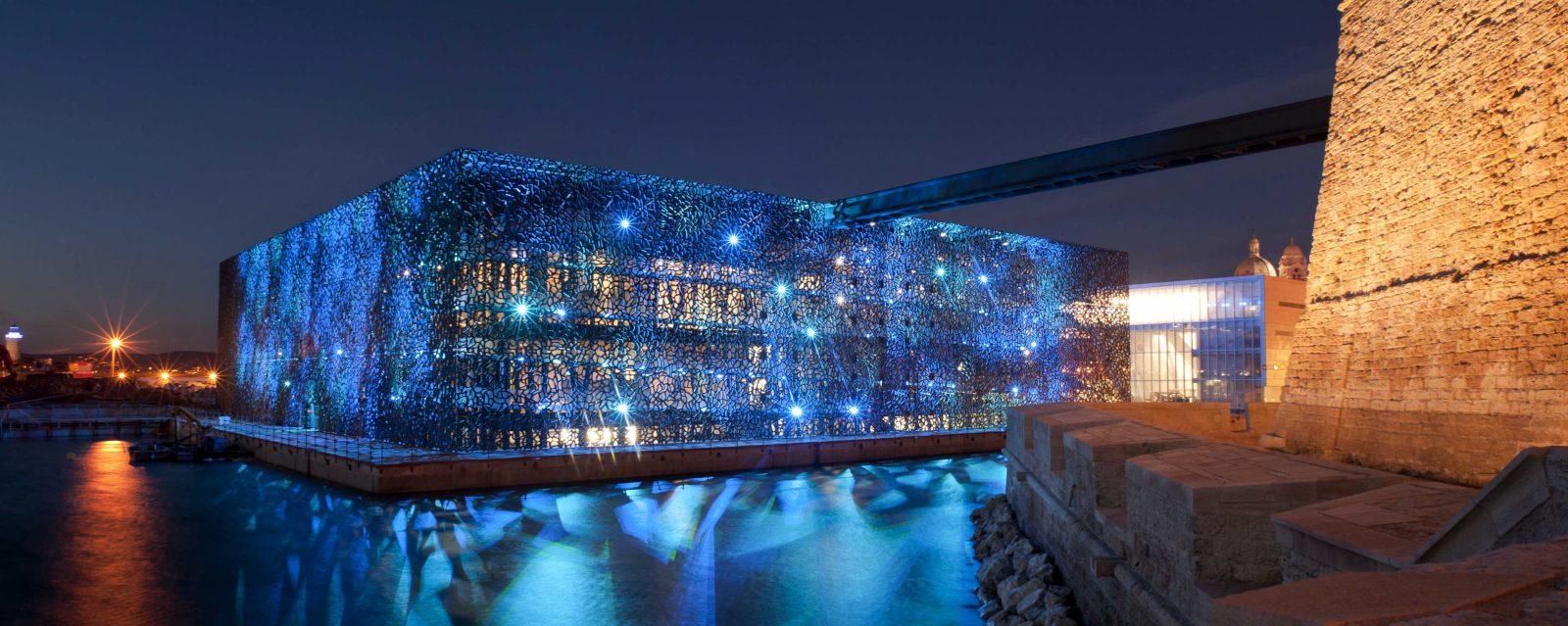 Marseille le MuCEM de nuit