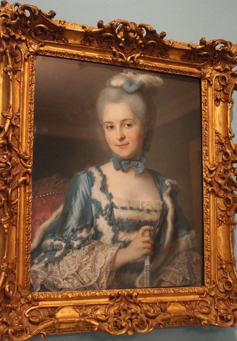 Maurice Quentin de La Tour - Madame Cailloux1740-1750. Pastel