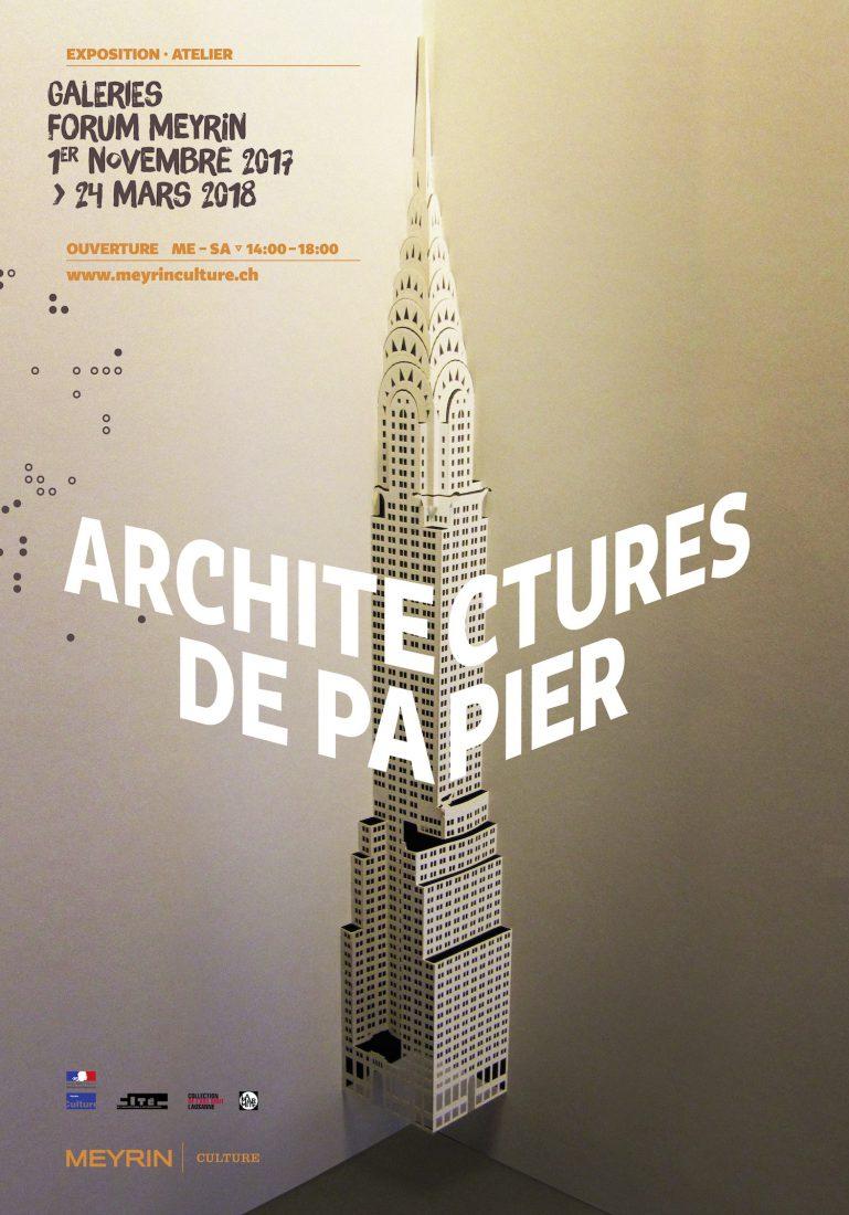 Meyrin exposition Architectures de papier - affiche