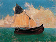 Odilon Redon - A la dérive (La Barque),