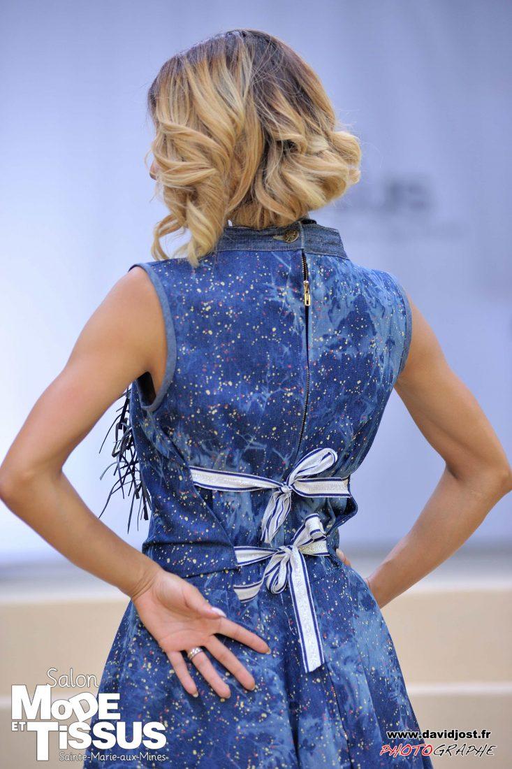 Ste Marie-aux-Mines salon Mode et tissus 2018 défilé robe jean