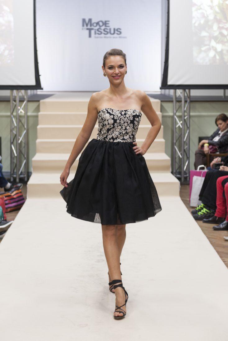 Ste Marie-aux-Mines salon Mode et tissus 2018 défilé robe noire