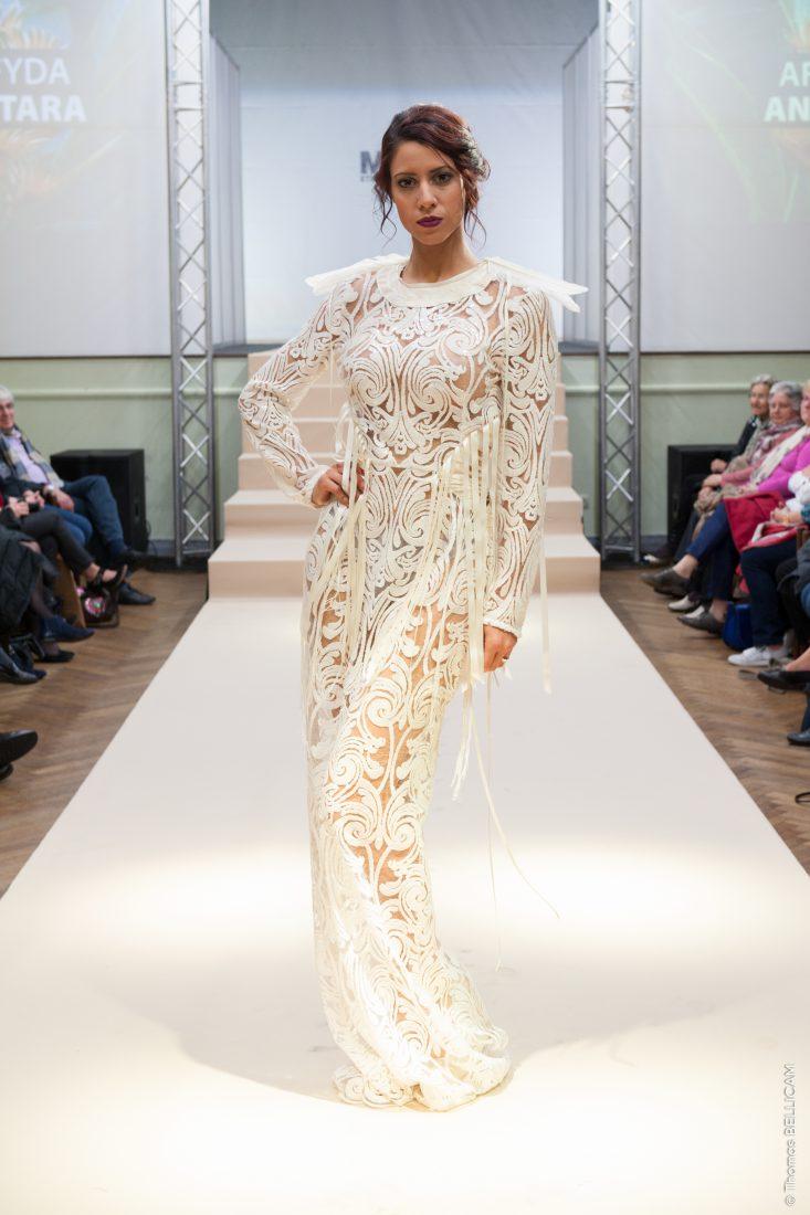 Ste Marie-aux-Mines salon Mode et tissus 2018 défilé robe broderie