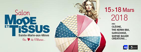 Ste Marie-aux-Mines salon Mode et tissus 2018 affiche