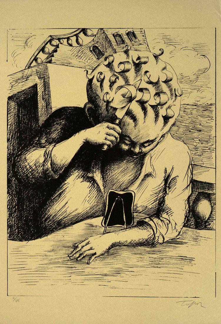 Roland Topor, sans titre courtesie galerie Anne Barrault
