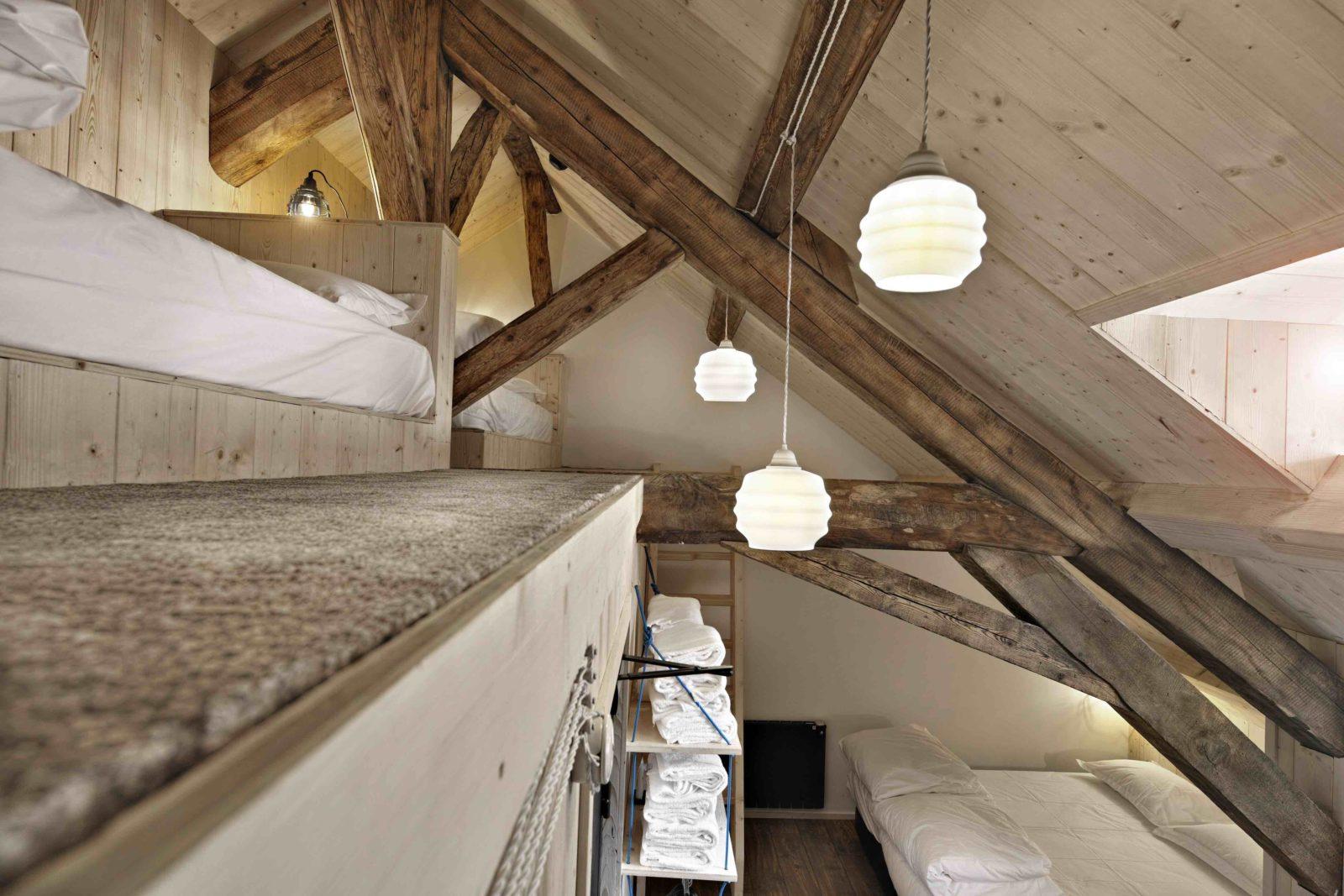 dortoir au Refuge du Montenvers