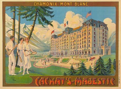 Chamonix cahat's Majestic affiche été