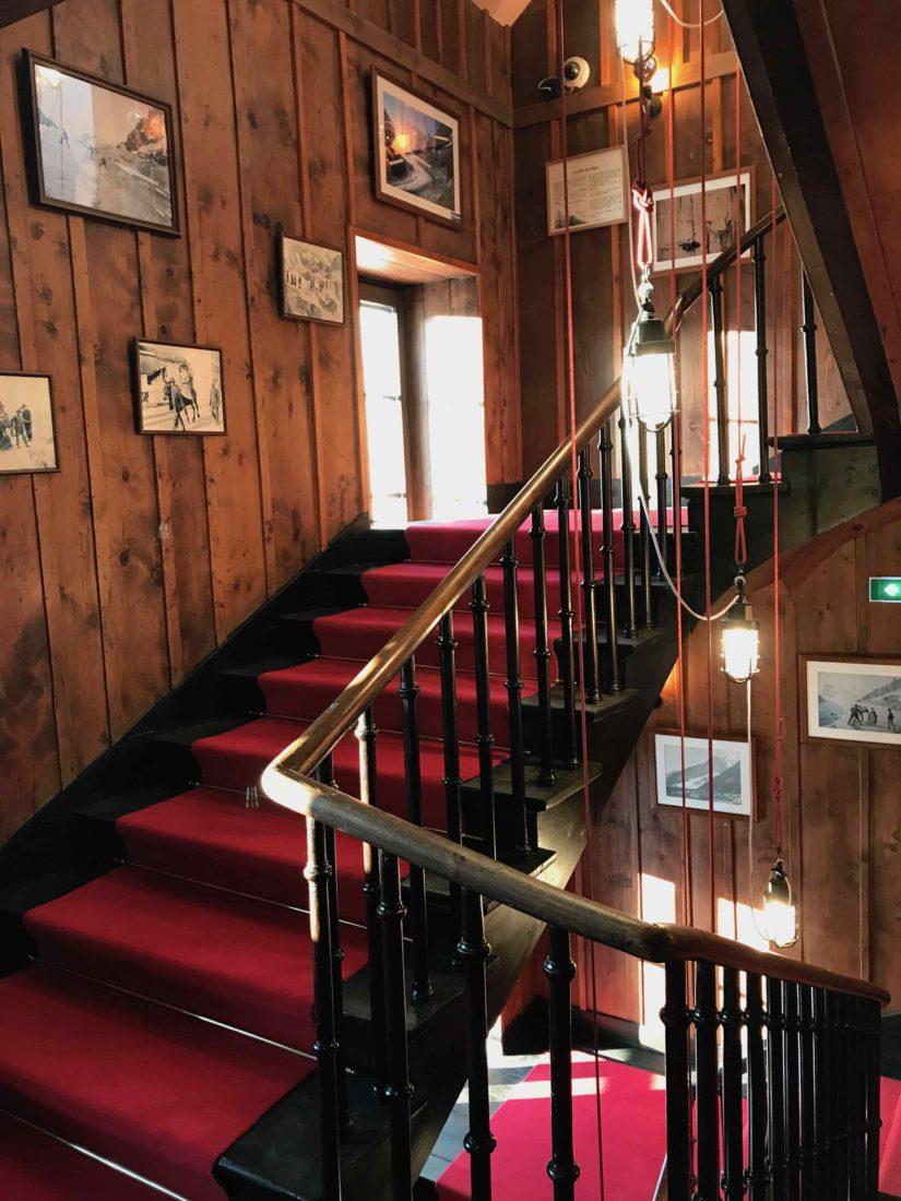 Terminal Neige-Refuge du Montenvers escalier
