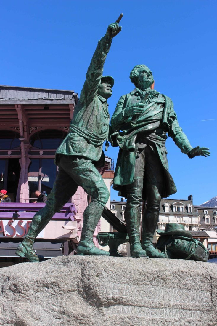 Chamonix statues deBalmat et De Saussure