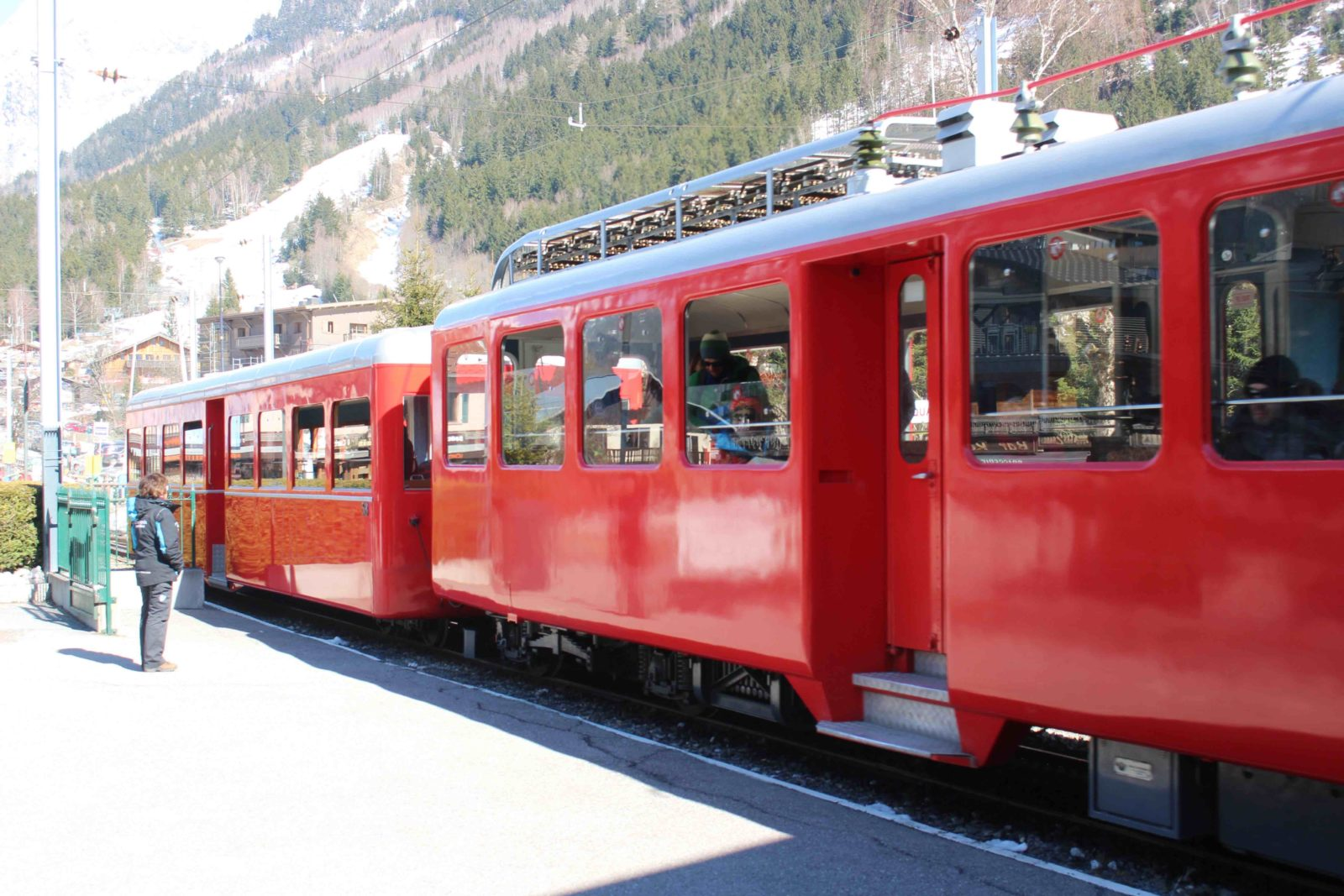 Chamonix le train rouge du Montenvers