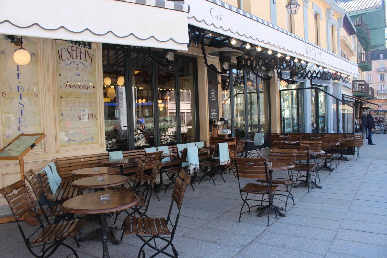 Chamonix restaurant Joséphine terrasse